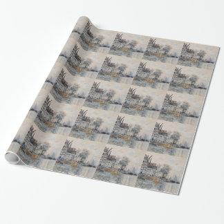 Ansicht von Amsterdam durch Claude Monet Geschenkpapier