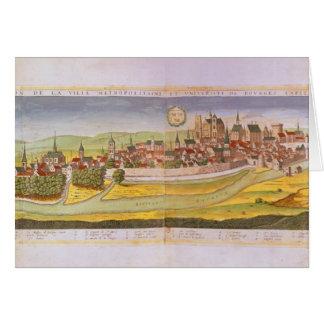Ansicht von Bourges und von Universität Karte
