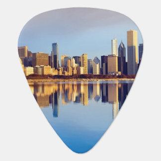 Ansicht von Chicago-Skylinen mit Reflexion Plektrum