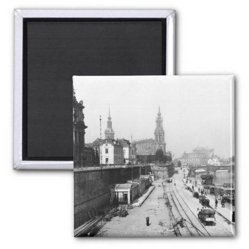 Ansicht von Dresden vom Bruehlsche Terrasse Magnete
