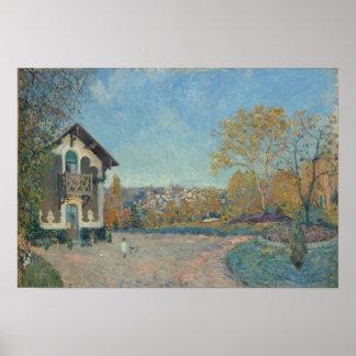 Ansicht von Mergelig-Le-ROI von Coeur-Volant Poster