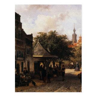 Ansicht von Oudewater durch Cornelis-Springer Postkarte