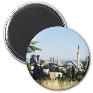 Ansicht von Skopje Runder Magnet 5,7 Cm