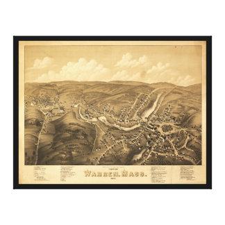 Ansicht von Waren Massachusetts (1879) Leinwanddruck