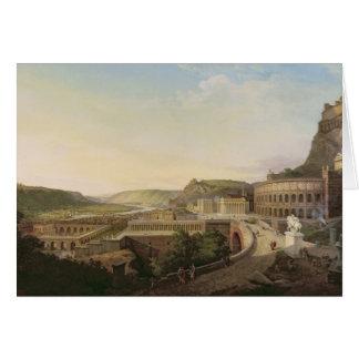 Ansicht von Wien in römische Zeiten, 1860 Karte