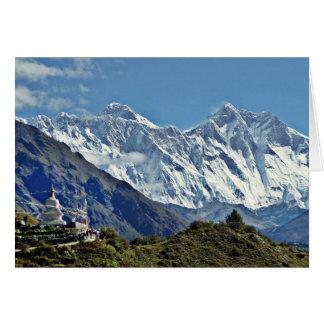 Ansichten von Nepal auf Weise zum MOUNT EVEREST Karte