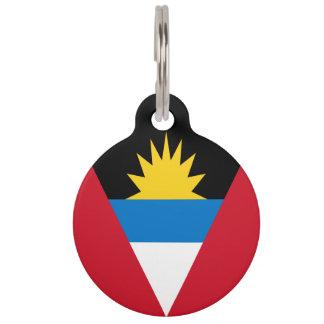 Antigua und Barbuda-Flagge Tiernamensmarke