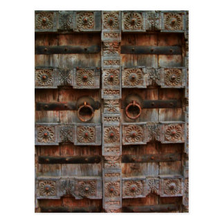 Antike doppelte Türen Postkarte