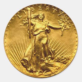 Antike Freiheits-Dollar-Münze Runder Aufkleber