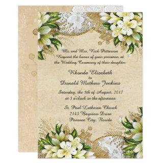 Antike Frühlings-Hochzeits-Einladung Karte