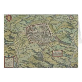 Antike Karte von Calatia, Italien