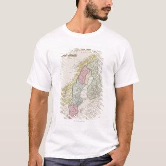 Antike Karte von Schweden T-Shirt