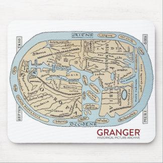 Antike-Karten-Mausunterlage Mousepad