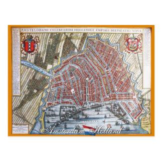 Antike Karten-Postkarte Amsterdams Postkarte
