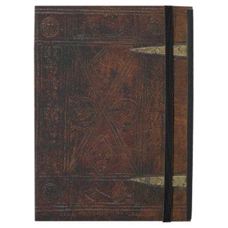 Antike Leder-Grenze gravierter Bucheinband