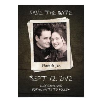 Antike polaroid einzigartige Save the Date 12,7 X 17,8 Cm Einladungskarte
