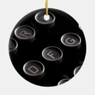 Antike Schreibmaschinen-Schlüssel Rundes Keramik Ornament