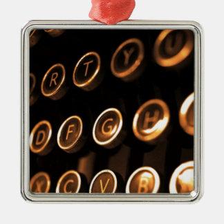 Antike Schreibmaschinenschlüssel Silbernes Ornament