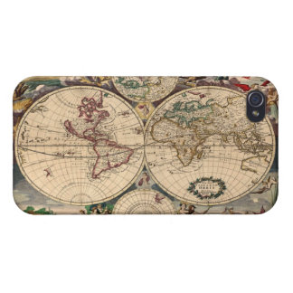 Antike Vintage alte Weltkarte iPhone 4 Savvy Fall iPhone 4 Cover