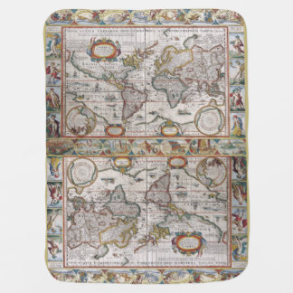 Antike Weltkartebabydecke Kinderwagendecke