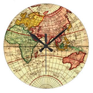 Antike Weltkugel-Karten-Vintage Kunst-Designer-Art Uhren