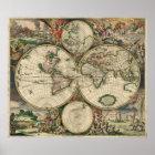 Antike Welts-Karte des Weltplakats Poster