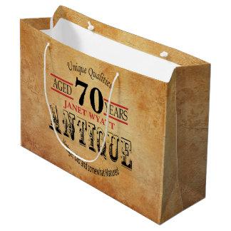 Antiken-70. Geburtstag Große Geschenktüte
