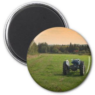 Antiker Traktor Runder Magnet 5,1 Cm