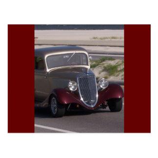 Antikes Auto Postkarte