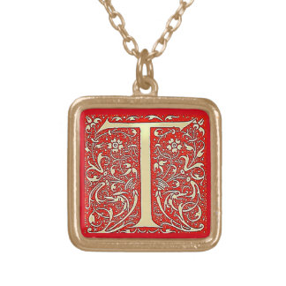 Antikes Monogramm T Vergoldete Kette