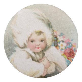 Antikes Winter-Schnee-Baby u. Blumen-Radiergummi Radiergummi 1