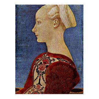 Antonio Del Pollaiuolo Profilbildnis einer jungen Postkarte