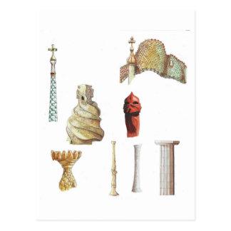 Antonio Gaudi. Barcelona. Spanien. Architektur Postkarte