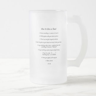 """Anweisungen für """"wie man"""" Bier-Glas röstet Mattglas Bierglas"""