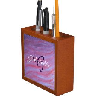 Anwendbarer Schreibtisch| rosa lila Stifthalter