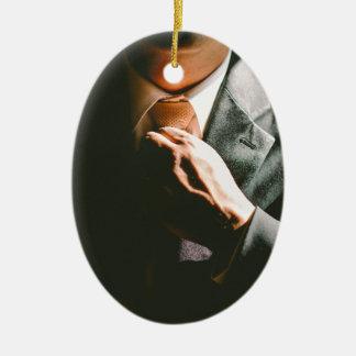 Anzugsgeschäftsmann-Krawatten-Schatteneffekt Keramik Ornament