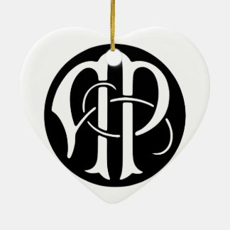 AP-Monogramm Keramik Herz-Ornament