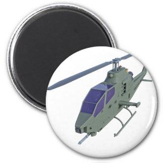 Apache-Hubschrauber in der Vorderansicht Runder Magnet 5,7 Cm