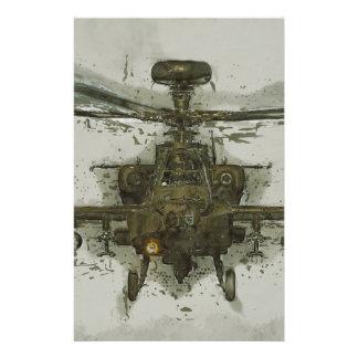 Apache-Hubschrauberangriff Briefpapier