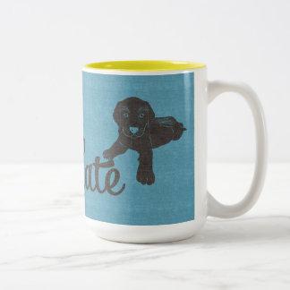 APAL - Hundeliebhaber-Tasse Schokoladen-Labradors Zweifarbige Tasse