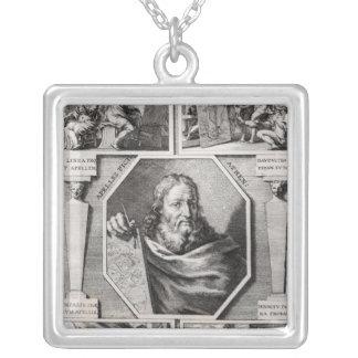 Apelles Halskette Mit Quadratischem Anhänger