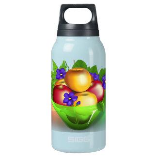 Äpfel im Vase Isolierte Flasche