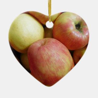 Äpfel Keramik Herz-Ornament