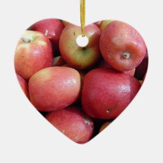 Äpfel Keramik Ornament