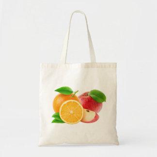Äpfel und Orangen Tragetasche