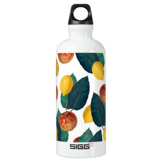 Äpfel und Zitronen Aluminiumwasserflasche