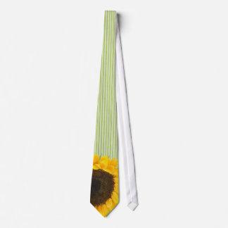 Apfelgrüne Sonnenblume-Krawatten-Dunkelheit u. Personalisierte Krawatten