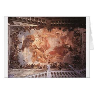 Apollo und die Kontinente durch Giovanni Battista Karte