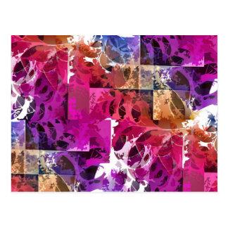 Apophysis-Fraktal-Kunst - Spinnennetz Postkarte