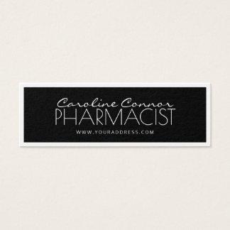 Apotheker-Chemiker-schwarze u. weiße angrenzende Mini Visitenkarte